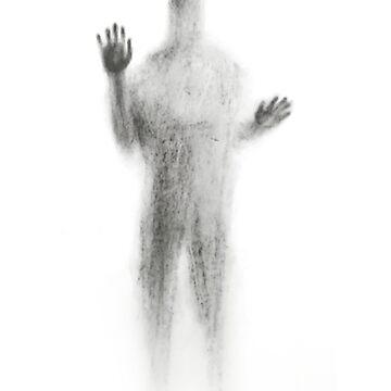 Ghost Silhouette on Glass Window by rott515