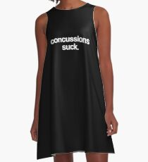 Simple Head Injury Concussion Get Well Gift A-Line Dress