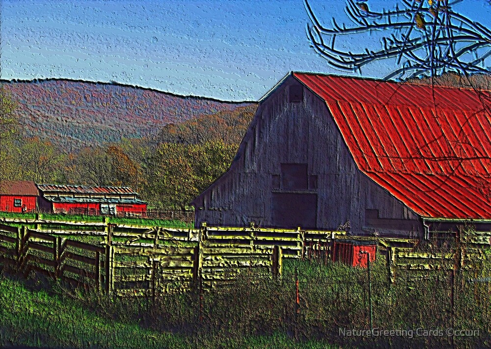 Boxley Valley Farmstead by NatureGreeting Cards ©ccwri