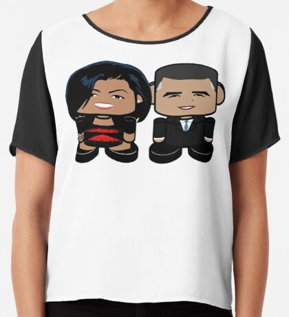 O'bamabots: Greater Together POLITICO'BOT Toy Robots Women's Chiffon Top