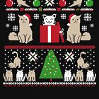 Christmas Holiday Cat Butts by Kittyworks