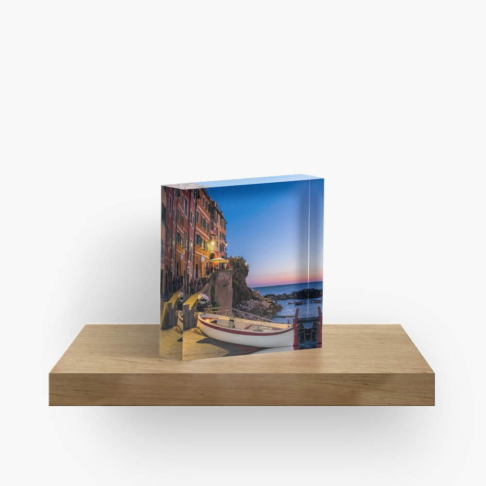 Sunset by the Seaside Acrylic Block