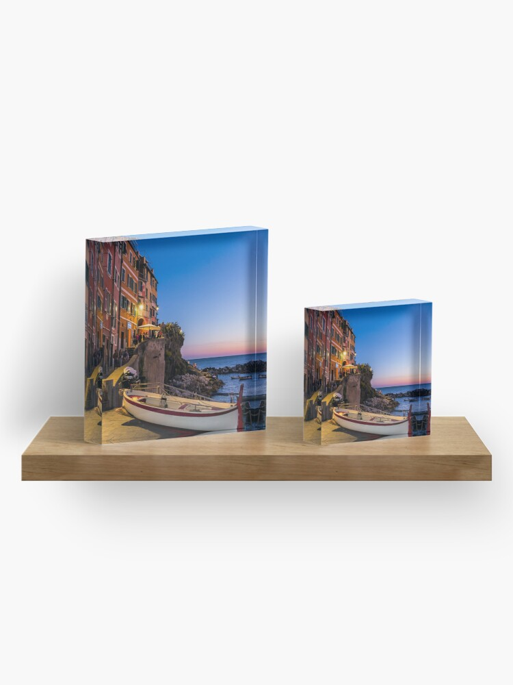 Alternate view of Sunset by the Seaside Acrylic Block