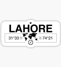 Lahore World Map.Lahore Stickers Redbubble