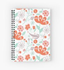 Orange Flower Fields Spiral Notebook