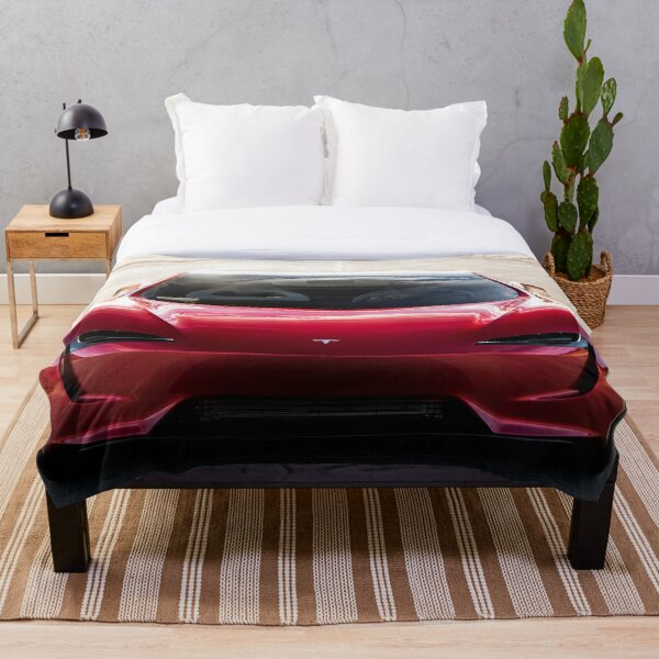 Tesla Roadster Newest Model ( 2022) T SHIRTS Throw Blanket
