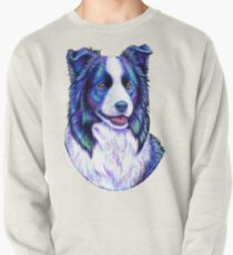 Colorful Border Collie Dog Pullover