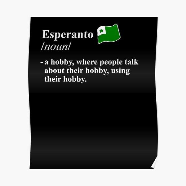 Esperanto Dictionary Term Poster