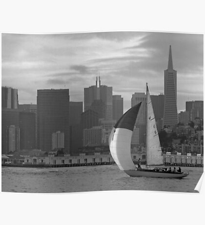 SF Folk Boat / landscape Poster