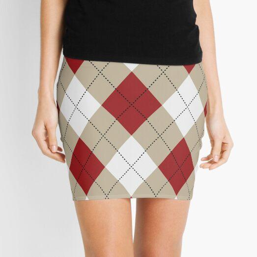 Argyle Pattern Mini Skirt