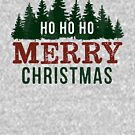 Farmhouse Style Merry Christmas Fir Trees by graphicloveshop