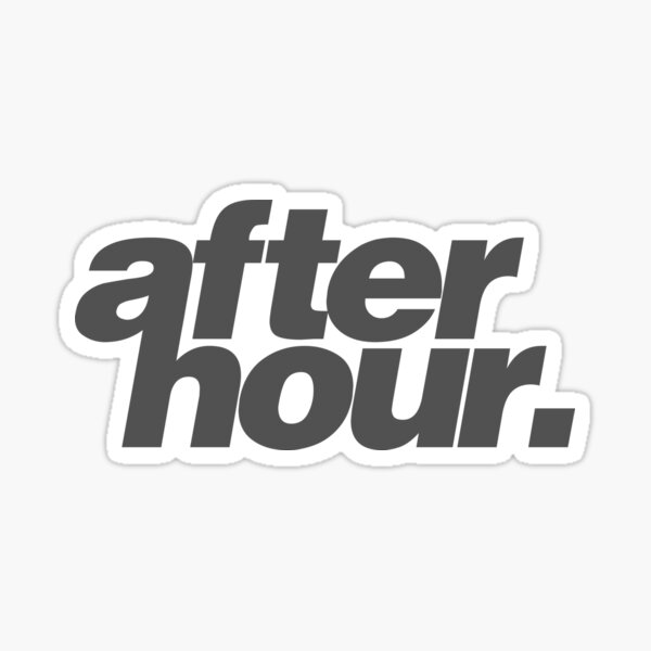 afterhour #1 Sticker