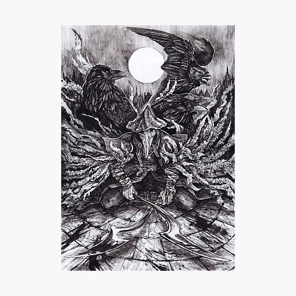 Eileen the Crow Photographic Print