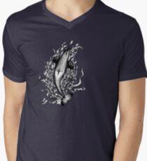 Saddle Patch Heart v2 Men's V-Neck T-Shirt