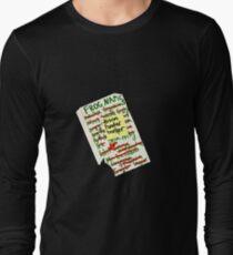 Frog Names Long Sleeve T-Shirt