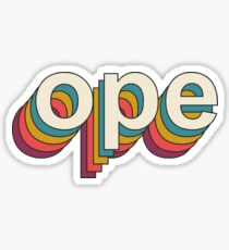 Vintage Ope Sticker