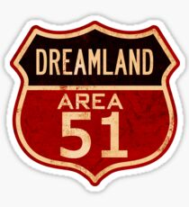 DREAMLAND AREA 51 Sticker