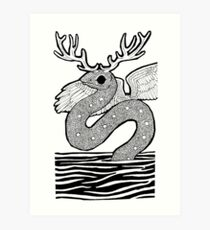 Uktena, the Horned Snake Art Print