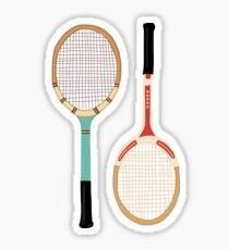 Vintage Tennisschläger Sticker