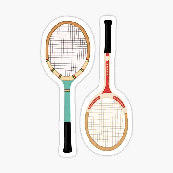 Vintage Tennis Rackets Sticker