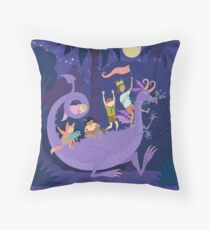 Nighttime Dragon Ride Throw Pillow