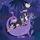 Nighttime Dragon Ride by Tracy Sabin