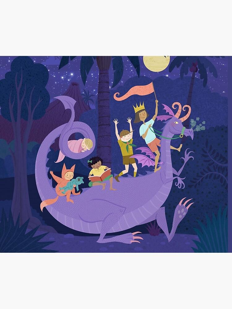 Nighttime Dragon Ride by TracySabin