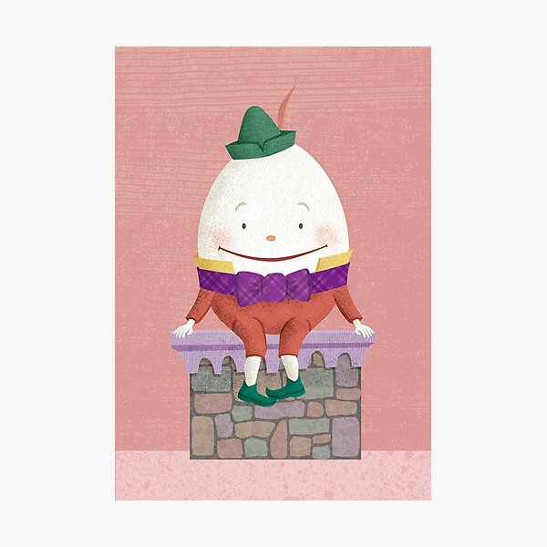 Humpty Dumpty Sat on a Wall Photographic Print