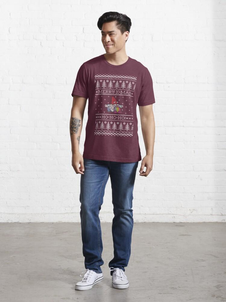 Vista alternativa de Camiseta esencial Happy and colorful Christmas with Santa Claus