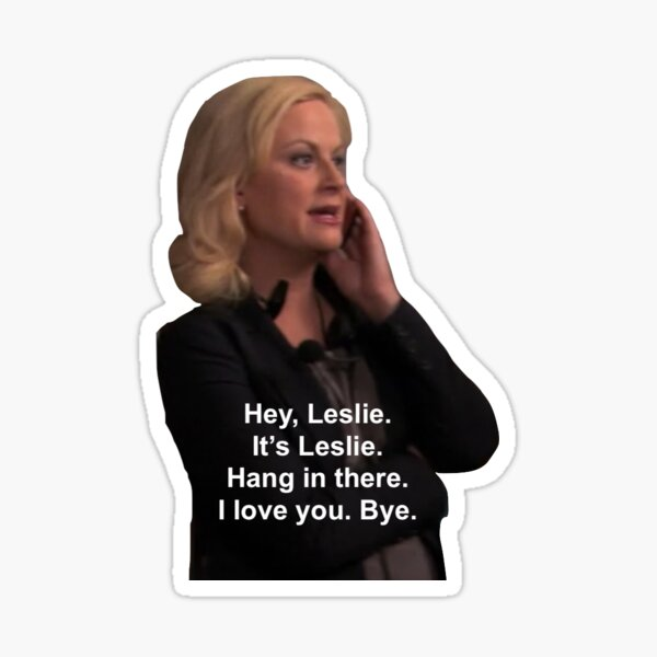 Hey, Leslie. It's Leslie Sticker