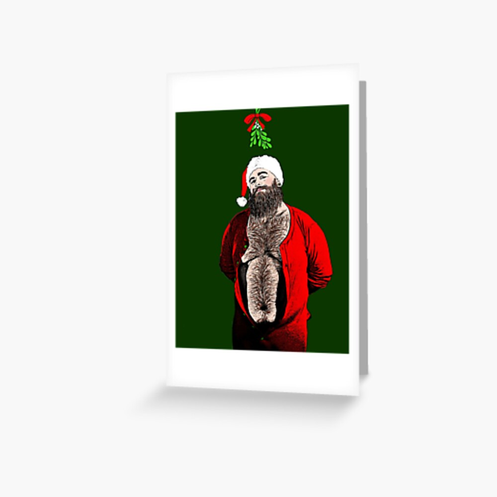 Kiss Under the Mistletoe  Greeting Card