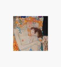 Gustav Klimt, mother and child,reproduction,art nouveau,great art from vintage painters Art Board