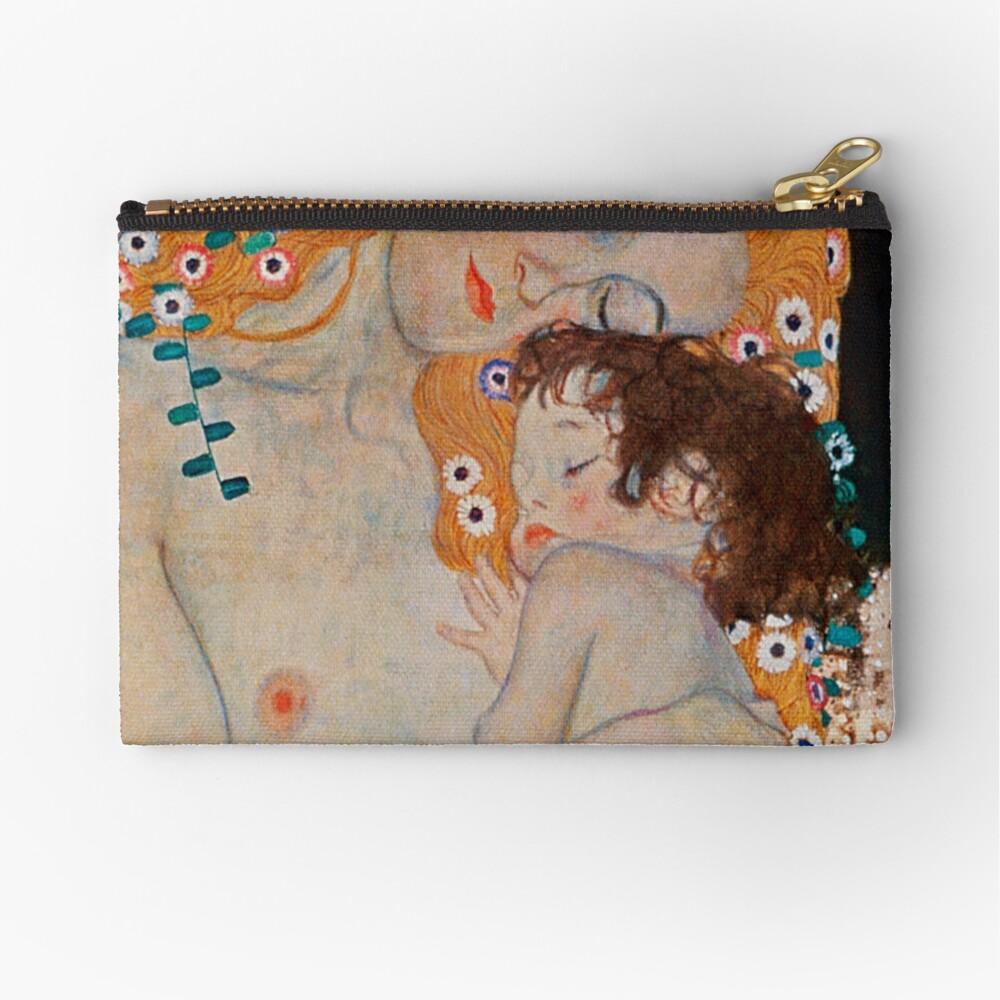 Gustav Klimt, mother and child,reproduction,art nouveau,great art from vintage painters Zipper Pouch