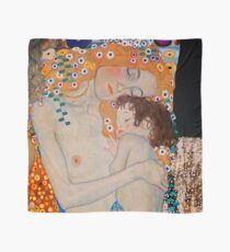 Gustav Klimt, mother and child,reproduction,art nouveau,great art from vintage painters Scarf