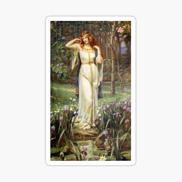 Freyja and her Necklace - James Doyle Penrose Sticker