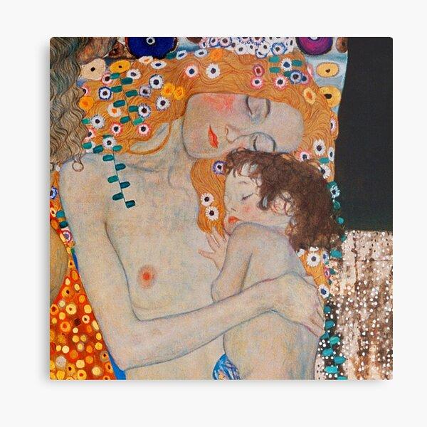 Gustav Klimt, mother and child,reproduction,art nouveau,great art from vintage painters Metal Print