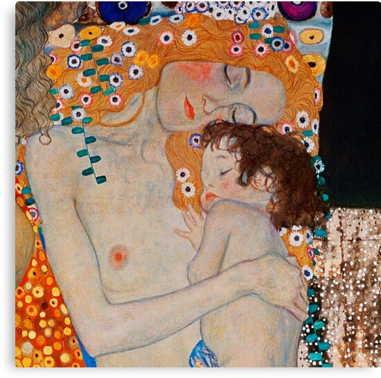 Gustav Klimt, mother and child,reproduction,art nouveau,great art from vintage painters by love999