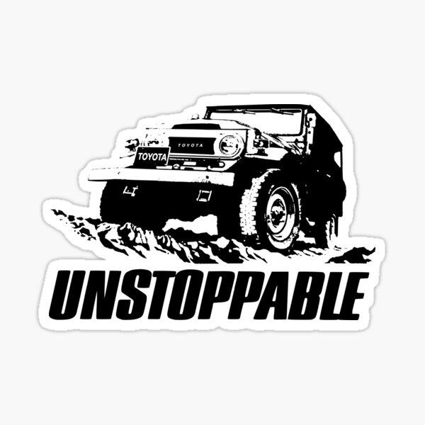 Unstoppable Toyota FJ40 Landcruiser Sticker