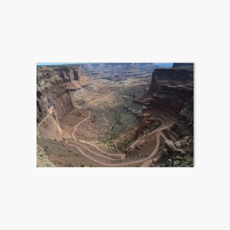 Shafer Trail in Canyonlands National Park Art Board Print