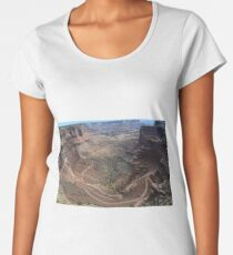 Shafer Trail in Canyonlands National Park Women's Premium T-Shirt