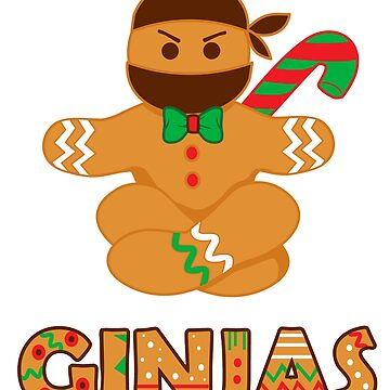 Ginjas Ginger Bread Ninja Christmas Holiday T-Shirt by tronictees