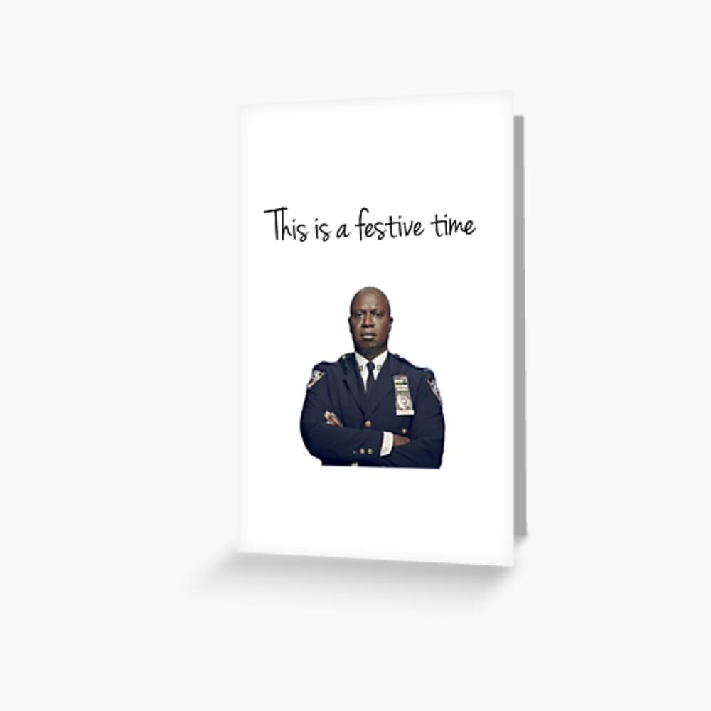 Capitán Holt tiempo festivo Tarjetas de felicitación