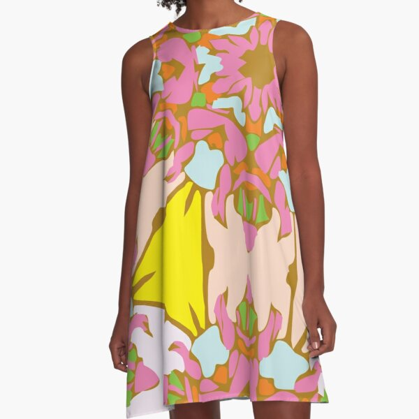 Candy Blush Flower A-Line Dress