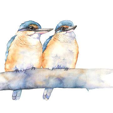 Sacred Kingfishers by Louisedemasi
