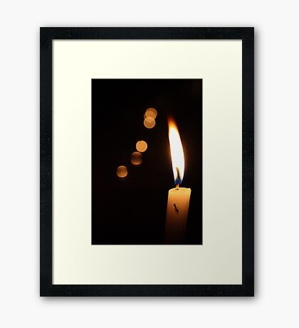 Candle & Orbs Framed Print