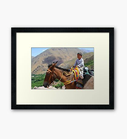 Pint sized adventures (Atlas Mountains, Morocco) Framed Print