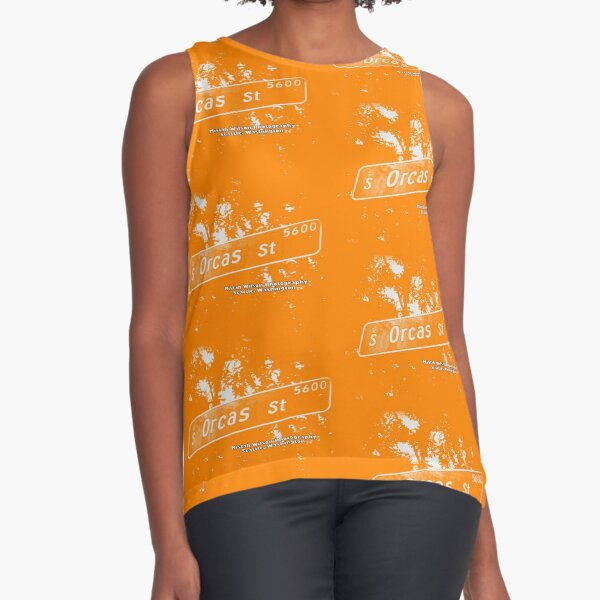 South Orcas Street1 CREME ORANGE Seattle Washington by Mistah Wilson Photography Sleeveless Top