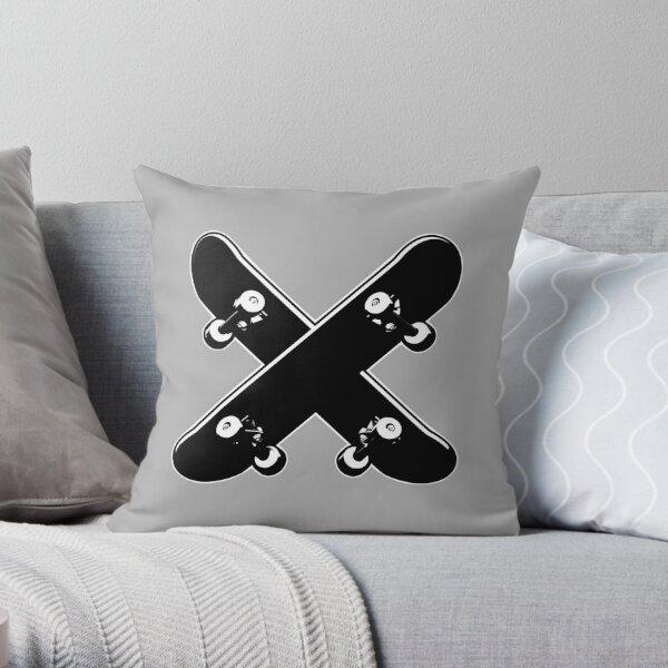 Skate X Throw Pillow