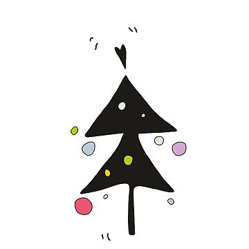 Graphic Christmas Tree Pattern by Gelena