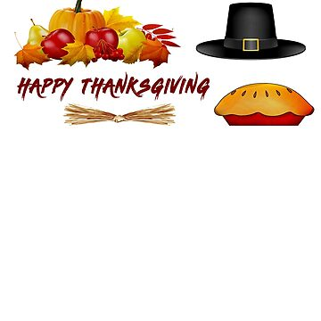 happy thanksgiving pumpkin  hat pie fall by AbdelaaliKamoun